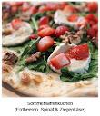 Sommerflammkuchen (Erdbeeren, Spinat & Ziegenkäse)