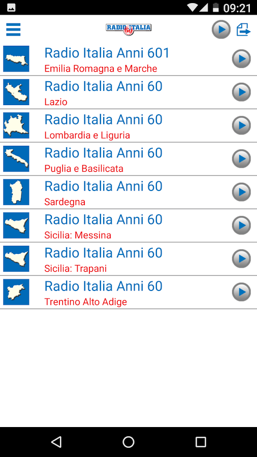 Radio Italia Anni 60- screenshot