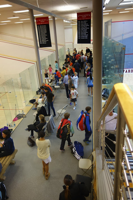Crowd in the back courts 6-14.