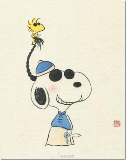 Peanuts X China Chic by froidrosarouge 花生漫畫 中國風 by寒花  Snoopy Woodstock Children Day 61兒童節