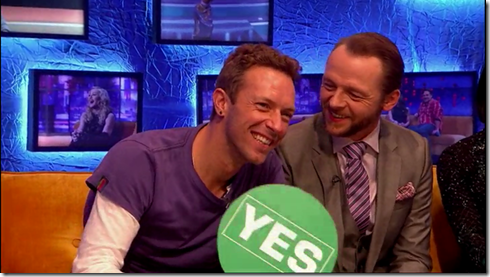 The Jonathan Ross show Coldplay Simon Pegg10