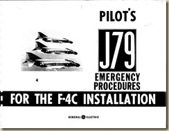 F-4C Pilot's J-79 Emergency Instructions