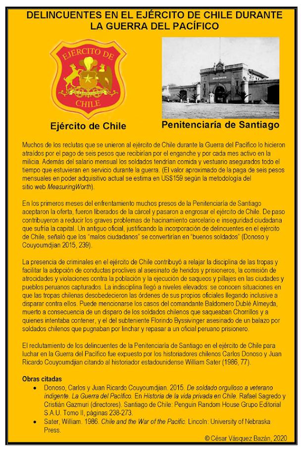 El Blog De Cesar Vasquez Bazan Peru Politica Economia Historia Delincuentes De La Penitenciaria De Santiago Enlistados Por El Ejercito De Chile Para La Guerra Del Pacifico