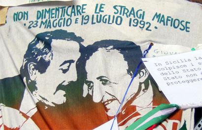 Sizilien - Gedenken an die Attentate auf die Mafia-Jäger Giovanni Falcone (23.05.92) und Paolo Borsellino (19.07.92)