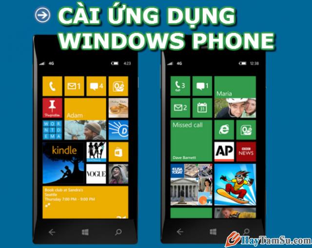 Cách Cài đặt và gỡ game ứng, dụng điện thoại Windows Phone 8/8.1