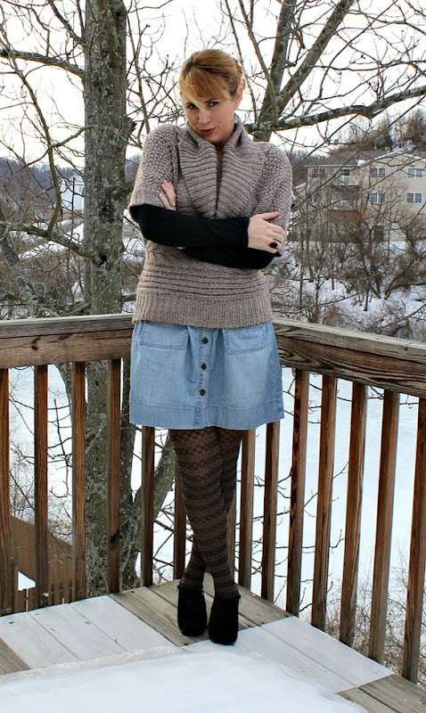 cowl-neck-sweater-denim-skirt-3