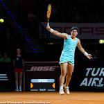 STUTTGART, GERMANY - APRIL 22 : Carla Suarez Navarro in action at the 2016 Porsche Tennis Grand Prix