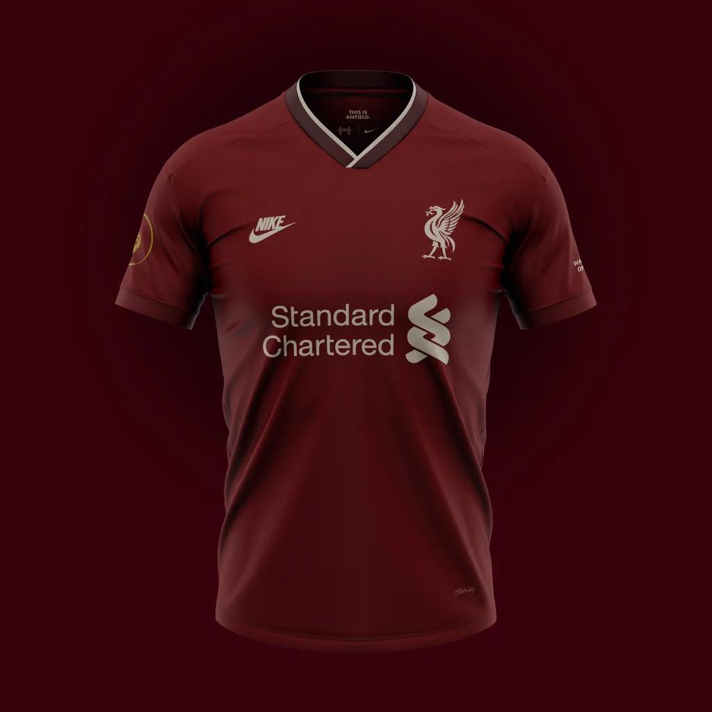 Konsep - Jersey Liverpool musim 2020-2021 Home Away Nike - Terlihat Sangat Bagus