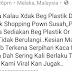 Kecoh Plastik Beg Tidak Dibenarkan Di Melaka