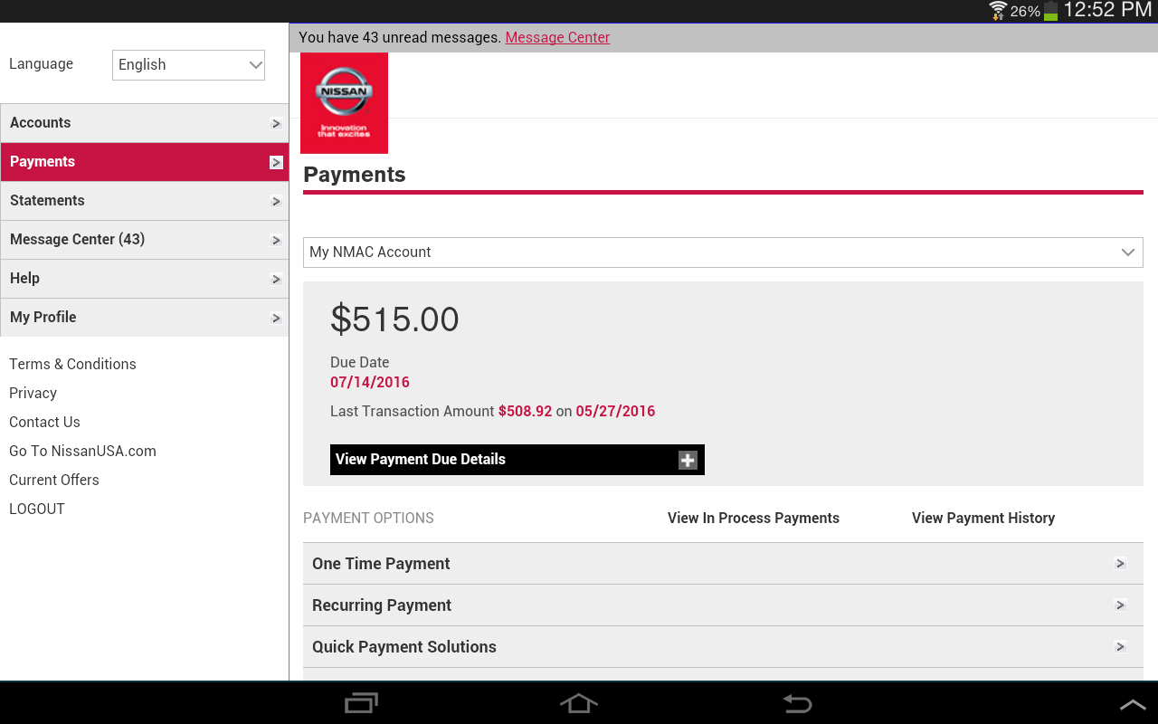 Nmac account manager screenshot