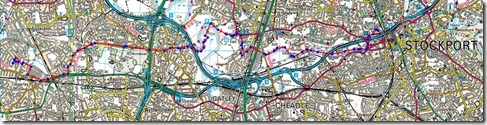 Timperley to Stockport return 27km