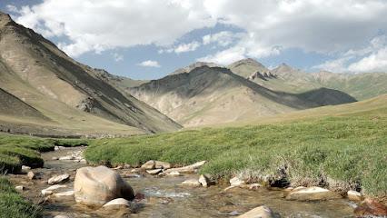 Blick auf 3.900 m hohen Bergen