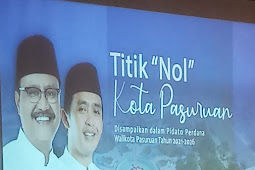 """Titik """"NOL"""" Kota Pasuruan, Suprayitno Apresiasi Mendukung Gus Ipul - Mas Adi Dalam Merubah Kota Pasuruan Secara Bersama-sama."""