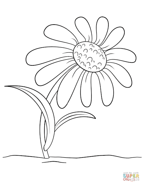 Click The Cartoon Daisy Flower Coloring Pages To View Printable
