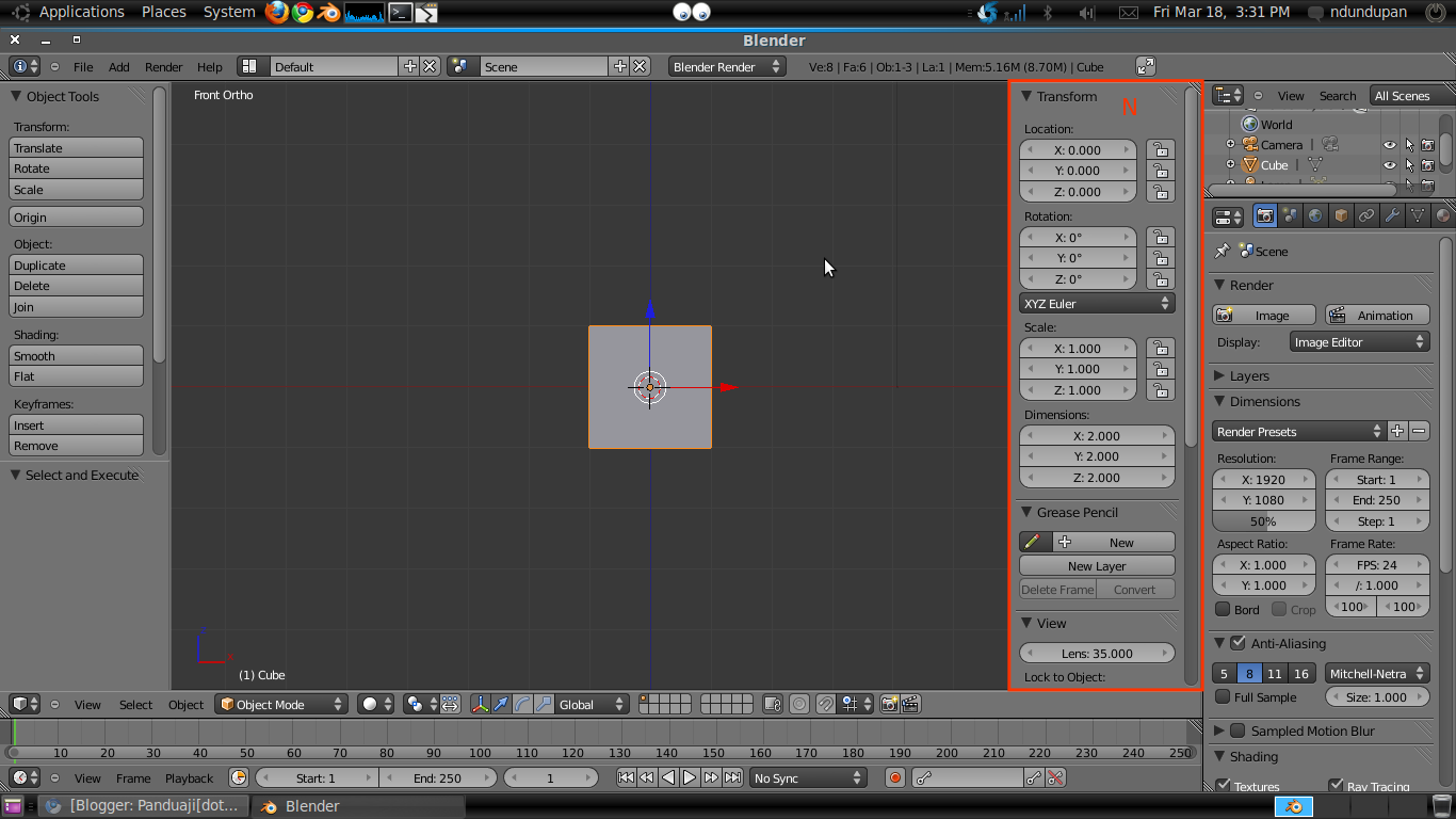 Menambahkan Background Image di Blender 2.5 4