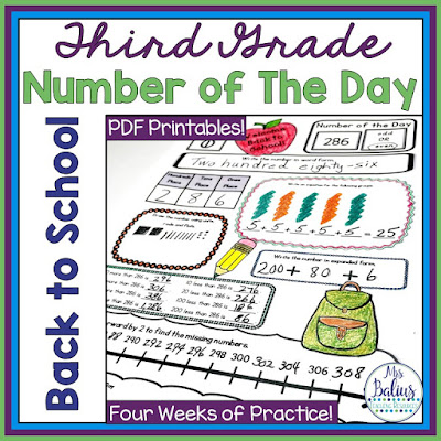 Third Grade Number of the Day will give students the practice they need to develop solid number sense skills