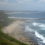 View of the coastline and Spoon Rocks Spit in the Wallarah Pennisula (387974)
