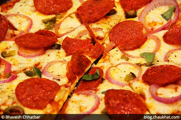 Pork Pizza served at 212 All Day Cafe & Bar at Phoenix Marketcity in Pune