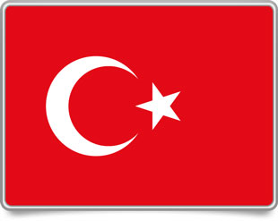 Turkish framed flag icons with box shadow