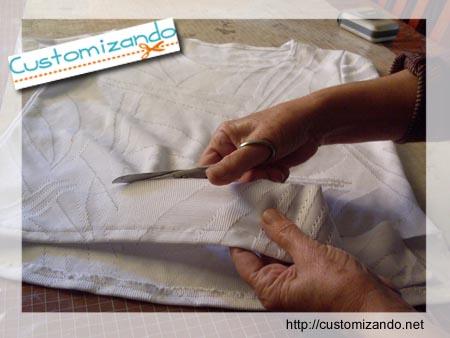 Customizando - Como fazer casaquinho