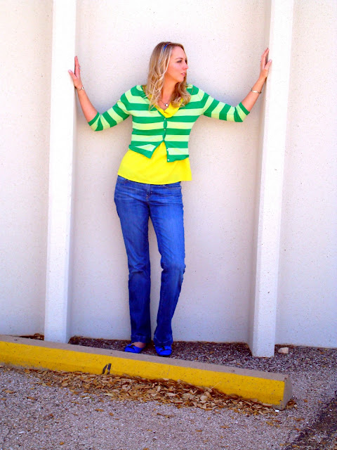 color block in stripes
