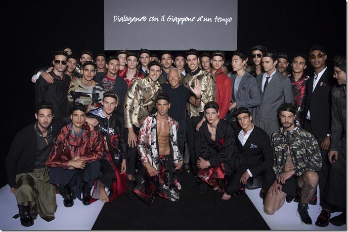 Emporio Armani Menswear SS18_ GA with models