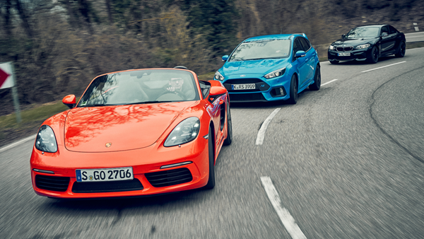 boxster S vs Focus RS vs BMW M2