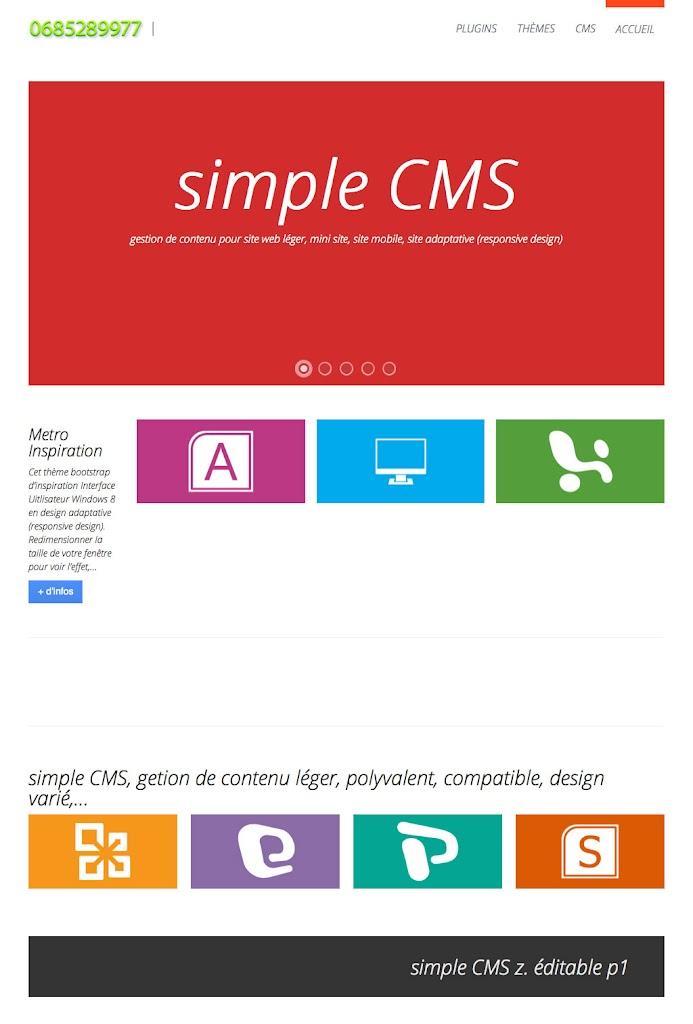Bienvenue sur simple cms - simple CMS gestion de contenu simple et puissant - 1024x768e