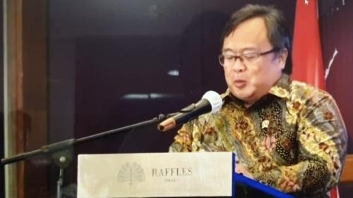 Foto Menristek Bambang Brodjonegoro. GeNose C-19, Inovasi Anak Bangsa untuk Pulihkan Ekonomi Nasional.
