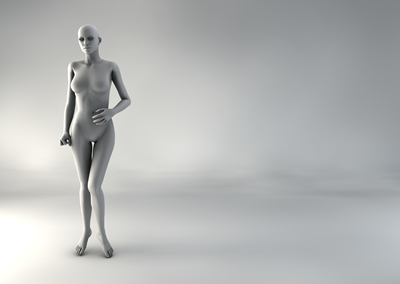 femme 3D pose naturelle SP 02