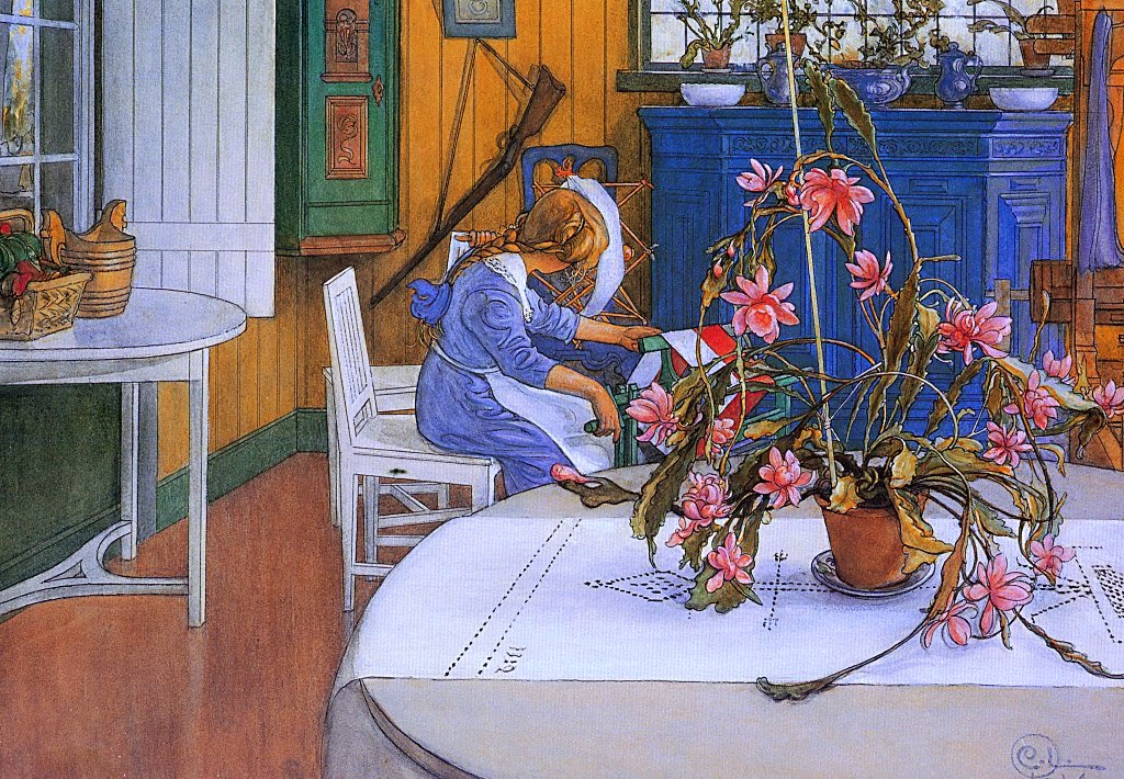 Carl Larsson - Interior with a Cactus, 1914