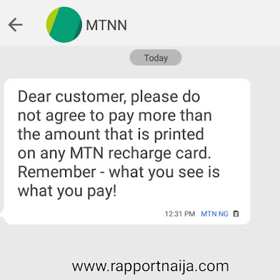 MTN Nigeria Urges Customers Not To Pay More Than What Is On Airtime Recharge Cards