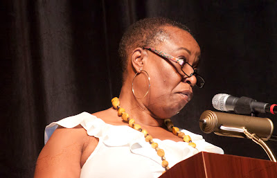 Mrs. Patricia Butler, PTO Council Co-President speaking.  Photos by TOM HART/  FREELANCE PHOTOGRAPHER