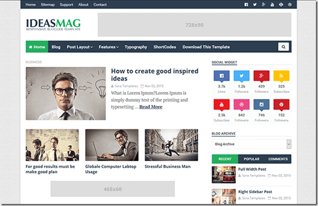 Ideas Mag Blogger Template