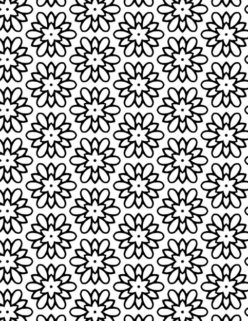 Flower Medallion Free Printable Adult Coloring Page  Grab This Pretty  Flower Coloring Sheet If You
