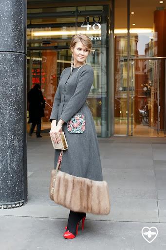 Ekatrerina Smirnova; lawyer; Ulyana Sergeenko coat; Ulyana Sergeenko boots; Ulyana Sergeenko bag; Chanel earrings;
