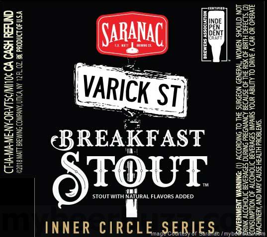 Saranac Inner Circle Series Varick St Breakfast Stout