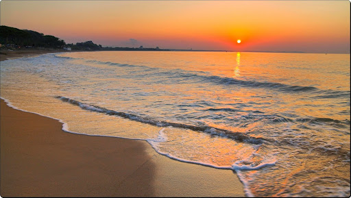 Miami Platja at Sunset, Cambrils, Costa Dorda, Spain.jpg