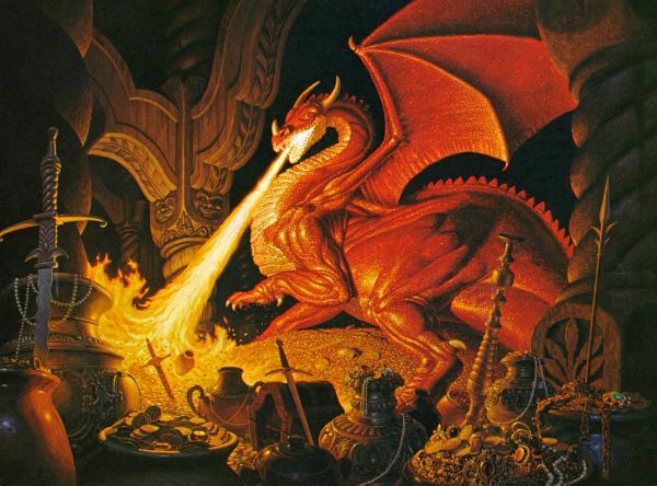 Tolkien Original Calendar 7 Smaug, Magic Animals 1