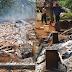 Rumah Rata Dengan Tanah Tanpa Barang Tersisa di Ciemas Sukabumi