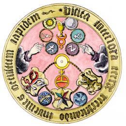 Vitriol Acrostic Originally From Basil Valentine In Johann Neithold Aureum Vellus 1733, Alchemical And Hermetic Emblems 1