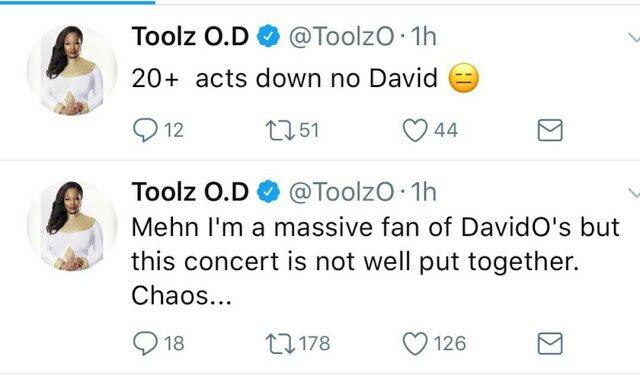 Toolz Critisizes Davido's 30 Billion Concert