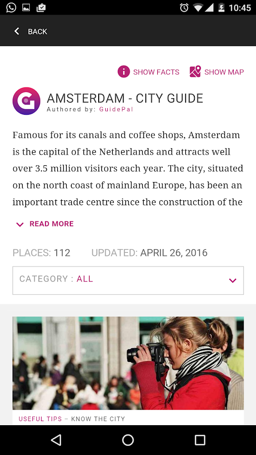 Amsterdam City Guide- screenshot