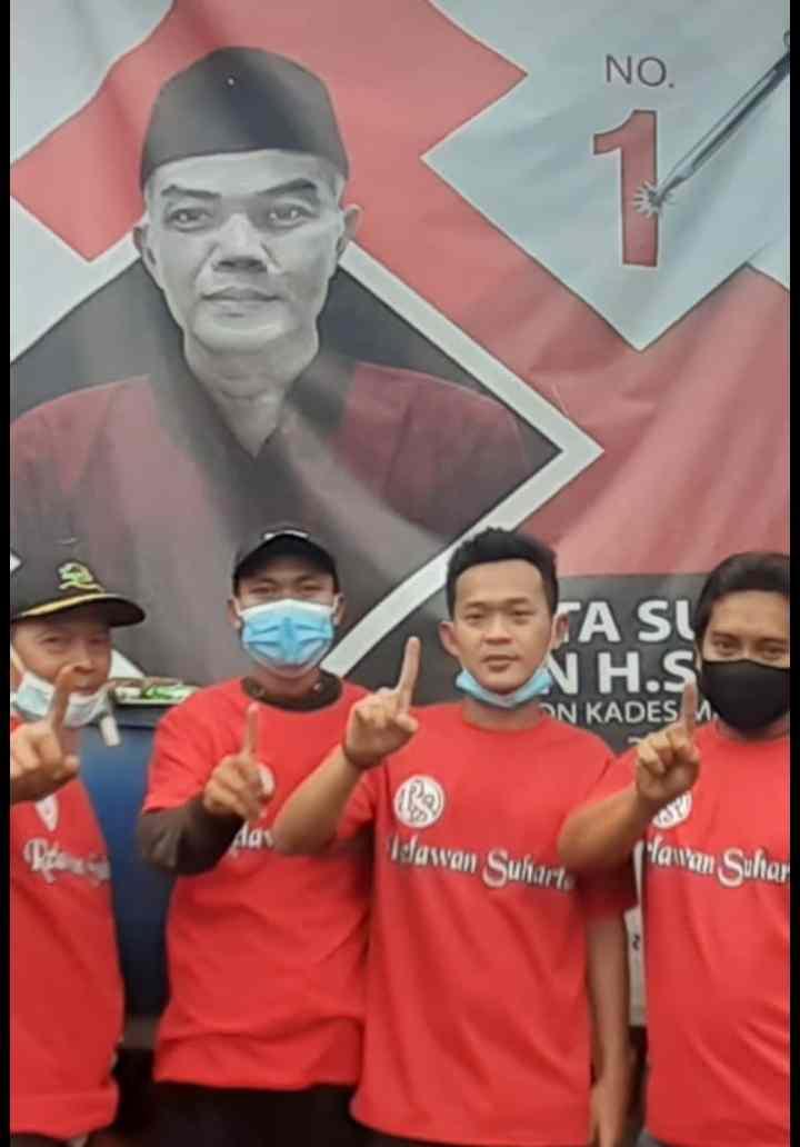 Calon Kepala Desa Malangnengah No 1. Tata Suharta  Tepilih Menjadi Kepala desa Dengan 2.236 Suara.