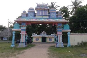 Thiruppariyalur (Parasallur) Temple Entrance Arch Rear View