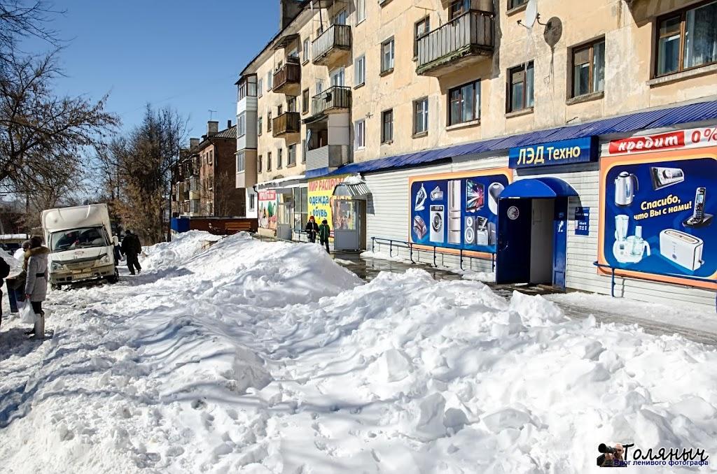 А это, как мне кажется, шедевр. Такого количества нечищенного снега я еще не видел.