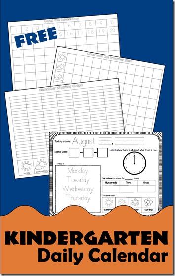 Calendar Notebook Homeschool : Free kindergarten daily calendar notebook