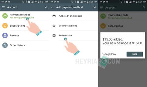 pengguna mempunyai beberapa pilihan dikala ingin berlangganan atau membeli aplikasi premium  Asyik, Cara Dapat Voucher Google Play Gift Card Gratis