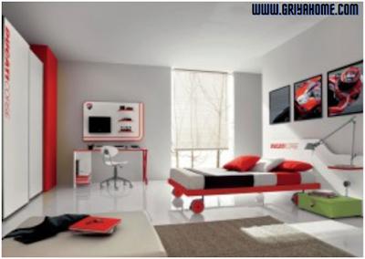 Ilustrasi tema kamar sesuai hobi