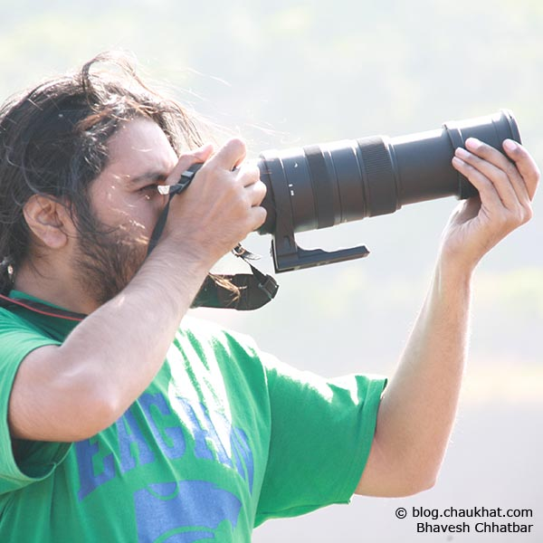 Bhavesh Chhatbar doing photography in the forest of Konkan